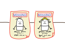 Cartoon representing missing people